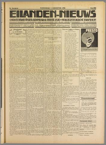 Eilanden-nieuws. Christelijk streekblad op gereformeerde grondslag 1936-08-05