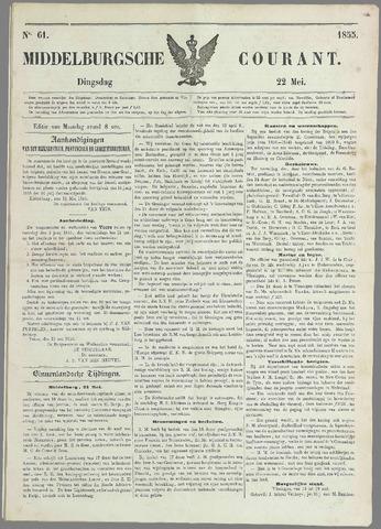 Middelburgsche Courant 1855-05-22