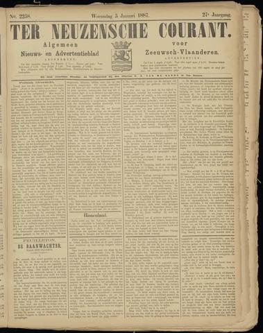 Ter Neuzensche Courant. Algemeen Nieuws- en Advertentieblad voor Zeeuwsch-Vlaanderen / Neuzensche Courant ... (idem) / (Algemeen) nieuws en advertentieblad voor Zeeuwsch-Vlaanderen 1887-01-05