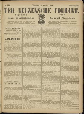 Ter Neuzensche Courant. Algemeen Nieuws- en Advertentieblad voor Zeeuwsch-Vlaanderen / Neuzensche Courant ... (idem) / (Algemeen) nieuws en advertentieblad voor Zeeuwsch-Vlaanderen 1891-10-28