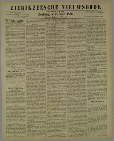 Zierikzeesche Nieuwsbode 1889-12-05