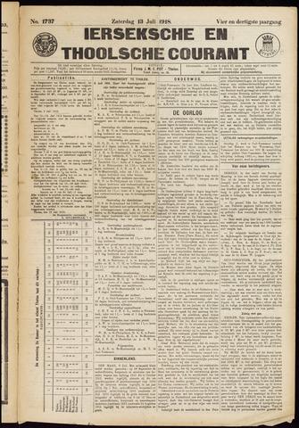 Ierseksche en Thoolsche Courant 1918-07-13