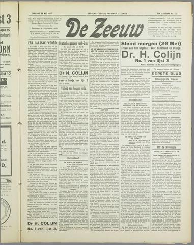 De Zeeuw. Christelijk-historisch nieuwsblad voor Zeeland 1937-05-25