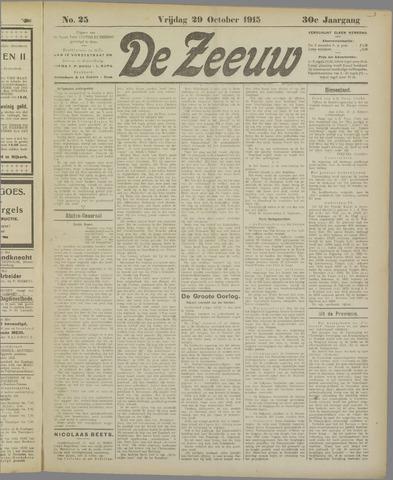 De Zeeuw. Christelijk-historisch nieuwsblad voor Zeeland 1915-10-29