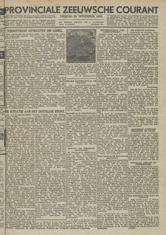 Provinciale Zeeuwse Courant 1943-11-26
