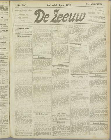 De Zeeuw. Christelijk-historisch nieuwsblad voor Zeeland 1917-04-07