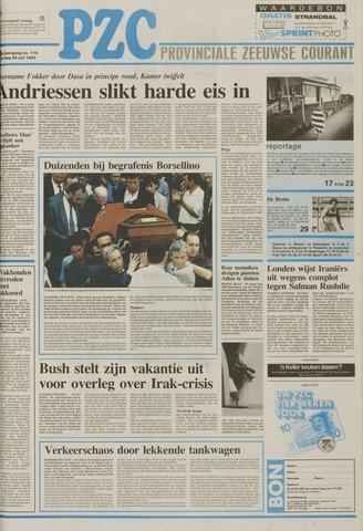 Provinciale Zeeuwse Courant 1992-07-25