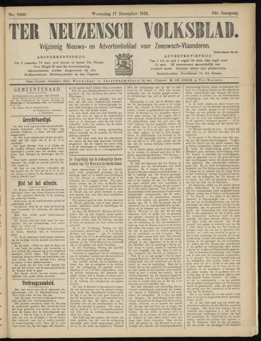 Ter Neuzensch Volksblad. Vrijzinnig nieuws- en advertentieblad voor Zeeuwsch- Vlaanderen / Zeeuwsch Nieuwsblad. Nieuws- en advertentieblad voor Zeeland 1913-12-17