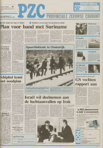 Provinciale Zeeuwse Courant 1991-02-13