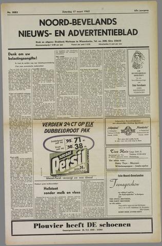 Noord-Bevelands Nieuws- en advertentieblad 1962-03-17
