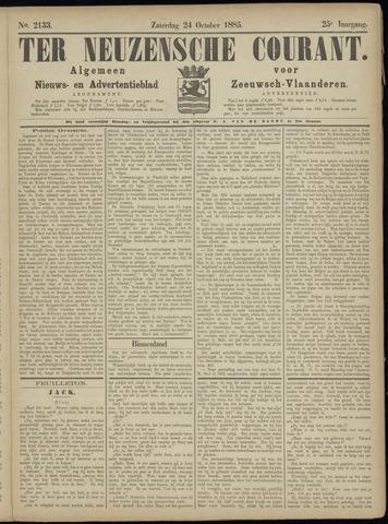 Ter Neuzensche Courant. Algemeen Nieuws- en Advertentieblad voor Zeeuwsch-Vlaanderen / Neuzensche Courant ... (idem) / (Algemeen) nieuws en advertentieblad voor Zeeuwsch-Vlaanderen 1885-10-24