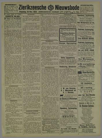 Zierikzeesche Nieuwsbode 1923-11-26