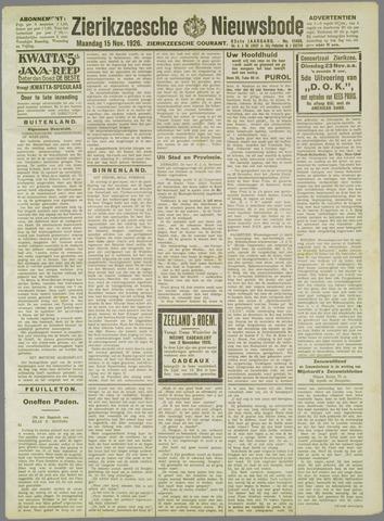 Zierikzeesche Nieuwsbode 1926-11-15