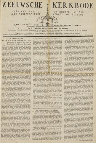 Zeeuwsche kerkbode, weekblad gewijd aan de belangen der gereformeerde kerken/ Zeeuwsch kerkblad 1945-11-23