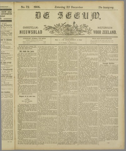 De Zeeuw. Christelijk-historisch nieuwsblad voor Zeeland 1906-12-22