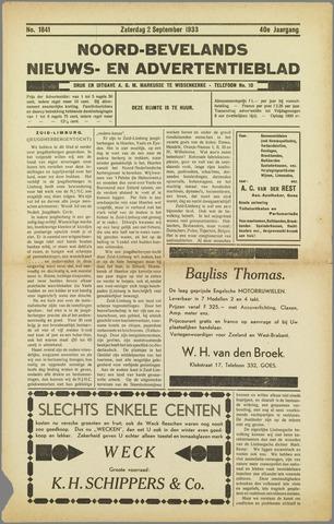 Noord-Bevelands Nieuws- en advertentieblad 1933-09-02