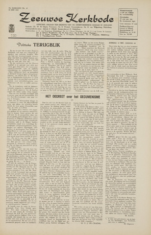 Zeeuwsche kerkbode, weekblad gewijd aan de belangen der gereformeerde kerken/ Zeeuwsch kerkblad 1965-05-14