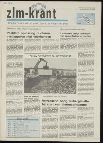 Zeeuwsch landbouwblad ... ZLM land- en tuinbouwblad 1993-09-17