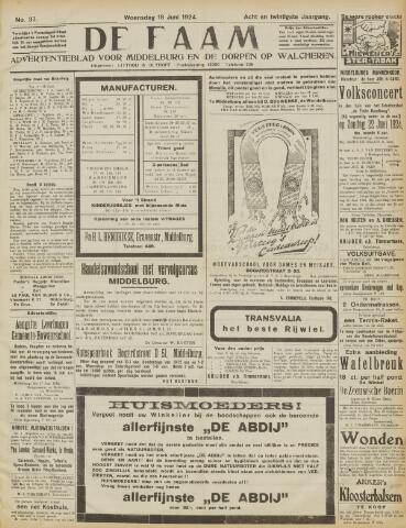 de Faam en de Faam/de Vlissinger 1924-06-18