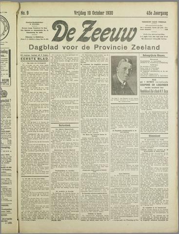 De Zeeuw. Christelijk-historisch nieuwsblad voor Zeeland 1930-10-10