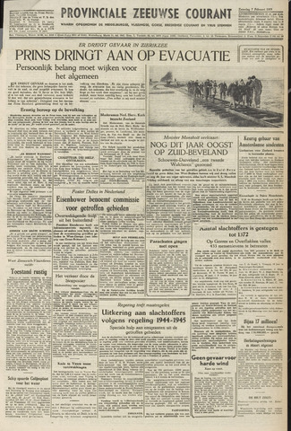 Provinciale Zeeuwse Courant 1953-02-07