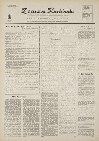 Zeeuwsche kerkbode, weekblad gewijd aan de belangen der gereformeerde kerken/ Zeeuwsch kerkblad 1970-08-06