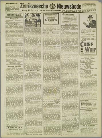 Zierikzeesche Nieuwsbode 1924-10-10