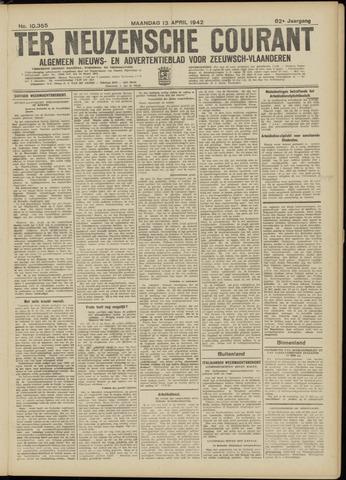 Ter Neuzensche Courant. Algemeen Nieuws- en Advertentieblad voor Zeeuwsch-Vlaanderen / Neuzensche Courant ... (idem) / (Algemeen) nieuws en advertentieblad voor Zeeuwsch-Vlaanderen 1942-04-13