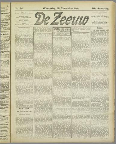 De Zeeuw. Christelijk-historisch nieuwsblad voor Zeeland 1921-11-16