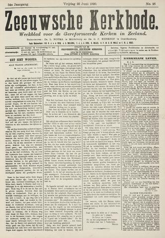 Zeeuwsche kerkbode, weekblad gewijd aan de belangen der gereformeerde kerken/ Zeeuwsch kerkblad 1920-06-25
