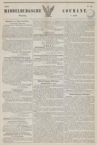 Middelburgsche Courant 1853-04-05