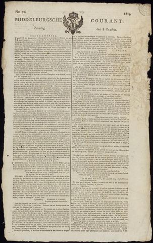 Middelburgsche Courant 1814-10-08