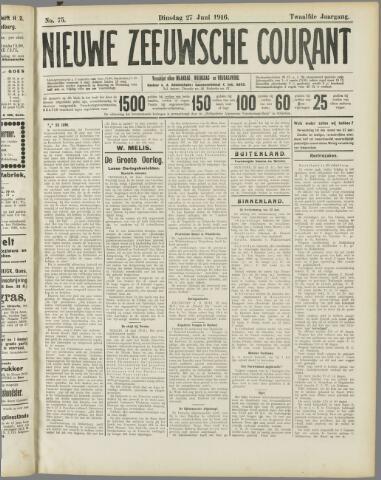 Nieuwe Zeeuwsche Courant 1916-06-27