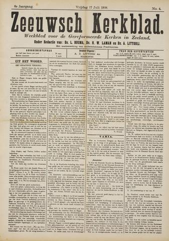 Zeeuwsche kerkbode, weekblad gewijd aan de belangen der gereformeerde kerken/ Zeeuwsch kerkblad 1908-07-17