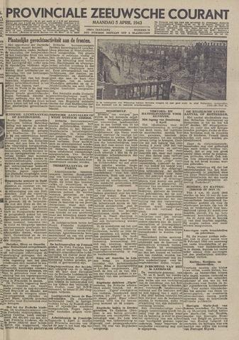 Provinciale Zeeuwse Courant 1943-04-05