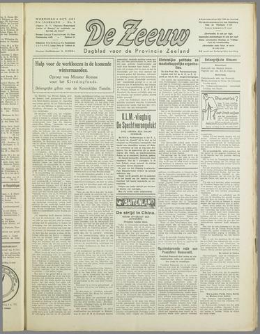 De Zeeuw. Christelijk-historisch nieuwsblad voor Zeeland 1937-10-06