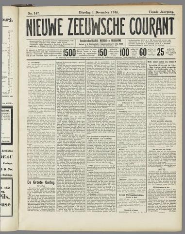 Nieuwe Zeeuwsche Courant 1914-12-01