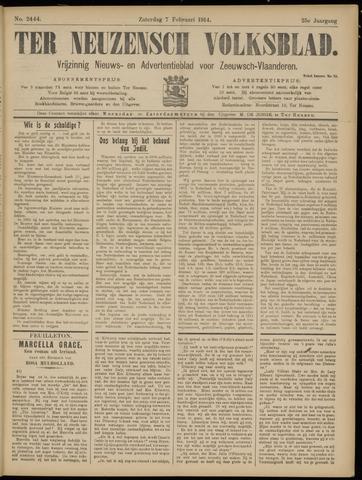Ter Neuzensch Volksblad. Vrijzinnig nieuws- en advertentieblad voor Zeeuwsch- Vlaanderen / Zeeuwsch Nieuwsblad. Nieuws- en advertentieblad voor Zeeland 1914-02-07