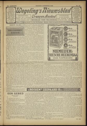 Zeeuwsch Nieuwsblad/Wegeling's Nieuwsblad 1929-08-09