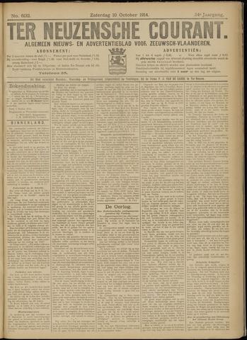 Ter Neuzensche Courant. Algemeen Nieuws- en Advertentieblad voor Zeeuwsch-Vlaanderen / Neuzensche Courant ... (idem) / (Algemeen) nieuws en advertentieblad voor Zeeuwsch-Vlaanderen 1914-10-10