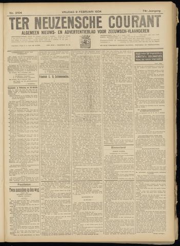 Ter Neuzensche Courant. Algemeen Nieuws- en Advertentieblad voor Zeeuwsch-Vlaanderen / Neuzensche Courant ... (idem) / (Algemeen) nieuws en advertentieblad voor Zeeuwsch-Vlaanderen 1934-02-09