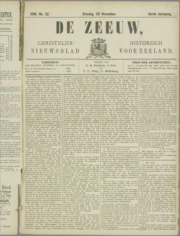 De Zeeuw. Christelijk-historisch nieuwsblad voor Zeeland 1888-11-20