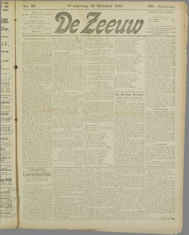 De Zeeuw. Christelijk-historisch nieuwsblad voor Zeeland 1917-10-31