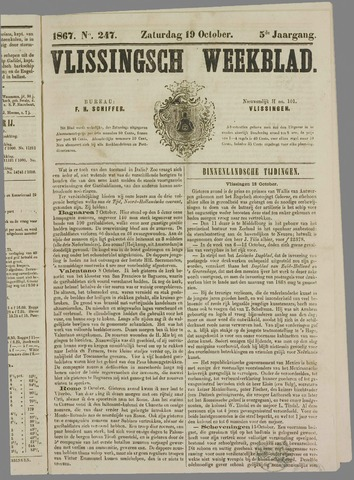 Vlissings Weekblad 1867-10-19