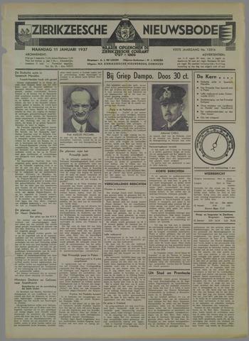 Zierikzeesche Nieuwsbode 1937-01-11