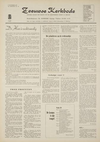 Zeeuwsche kerkbode, weekblad gewijd aan de belangen der gereformeerde kerken/ Zeeuwsch kerkblad 1970-11-19