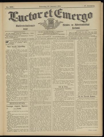 Luctor et Emergo. Antirevolutionair nieuws- en advertentieblad voor Zeeland / Zeeuwsch-Vlaanderen. Orgaan ter verspreiding van de christelijke beginselen in Zeeuwsch-Vlaanderen 1914-01-24