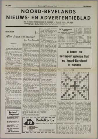 Noord-Bevelands Nieuws- en advertentieblad 1981-09-10