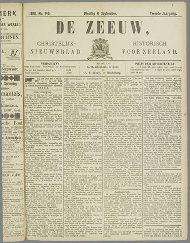 De Zeeuw. Christelijk-historisch nieuwsblad voor Zeeland 1888-09-11