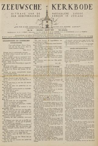 Zeeuwsche kerkbode, weekblad gewijd aan de belangen der gereformeerde kerken/ Zeeuwsch kerkblad 1946-03-01